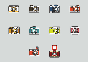 Camara Icon Set - vector gratuit #407011