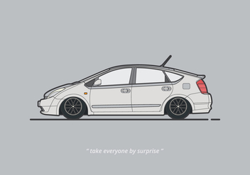 Prius Car Illustration - vector #407051 gratis