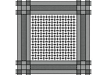 Keffiyeh Black Seamless Pattern - vector #407071 gratis
