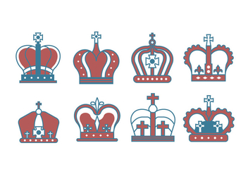 British Crown Vectors - Kostenloses vector #407091