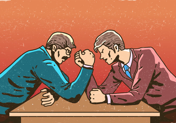 Arm Wrestling Business Competition - vector #407121 gratis