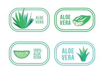 Set of Aloe and Maguey Logos - Kostenloses vector #407221