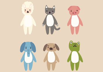 Animal Plushes - vector gratuit #407241