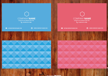 Abstract Polygon Style Name Card Set - vector gratuit #407301
