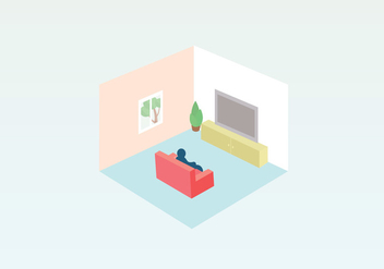 Room Vector Illustration - Free vector #407421