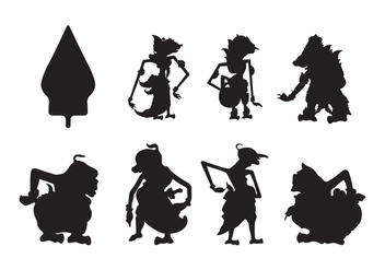 Free Wayang Silhouette Vector - Free vector #407461