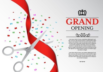 Free Ribbon Cutting Ceremony Vector - бесплатный vector #407491