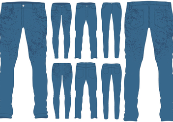 Blue Jeans Templates - vector gratuit #407501