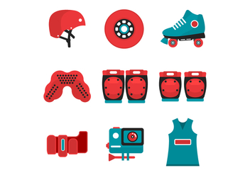 Free Roller Derby Starter Kit Icon - vector gratuit #407571