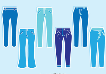Blue Jeans Collection Vector - vector gratuit #407601