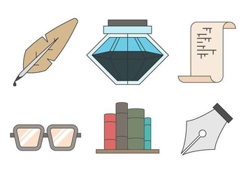 Free Writing Tools Vector - Free vector #407681