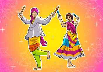 Garba Dance - vector gratuit #407721