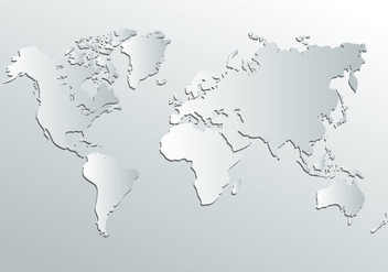 White World Map Vector - vector #407731 gratis