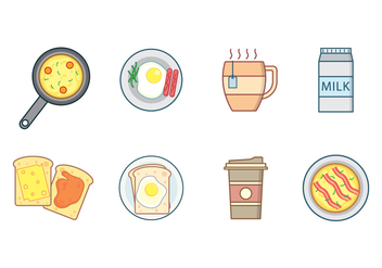 Free Breakfast Vector - бесплатный vector #407811