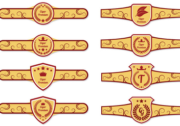 Cigar Label Vectors - Free vector #407841
