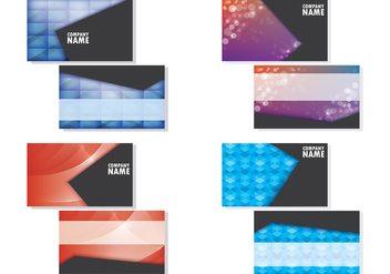 Set Of Namecard Templates - Free vector #407861