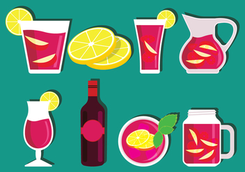 Sangria Vector Set - бесплатный vector #407911