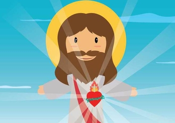 Free Sacred Heart Illustration - бесплатный vector #408071
