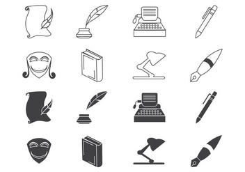 Free Writing and Literature Icon Vector - vector gratuit #408181