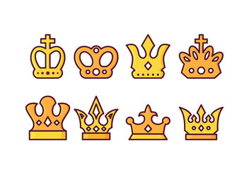Free British Crown Vector Pack - бесплатный vector #408191