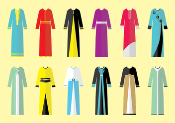 Abaya Collection Vectors - vector gratuit #408211