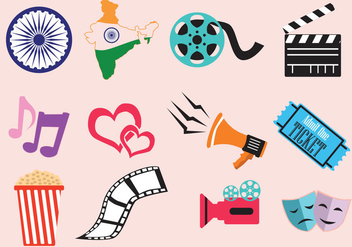 Bollywood Movie Icon - vector gratuit #408231