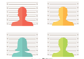 Mugshot Background Vector Set - vector gratuit #408301