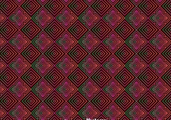 Huichol Orament Seamless Pattern - Free vector #408361