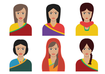 Indian Woman vector - Free vector #408431