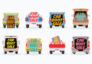 Free Car Boot Sale Vector - vector gratuit #408441