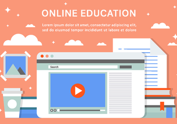 Free Online Education Vector Background - бесплатный vector #408491