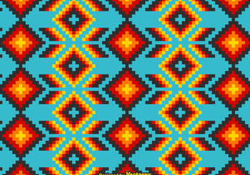Free Mexican Huichol Vector Pattern - Free vector #408591