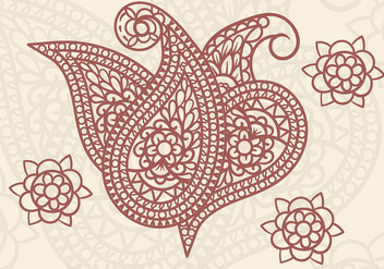Cashmere Vector Paisley - Free vector #408611