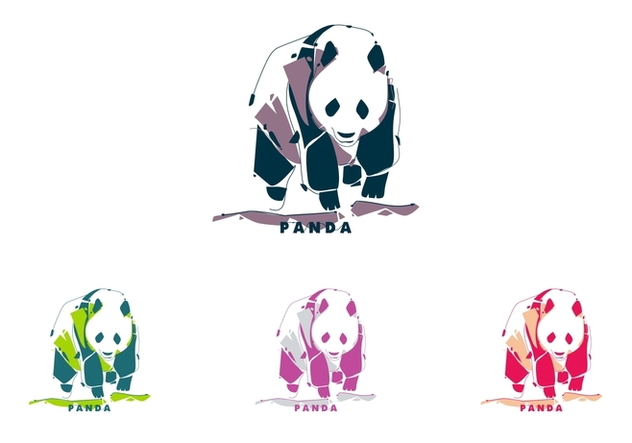 Panda in Popart Portrait - Free vector #408661