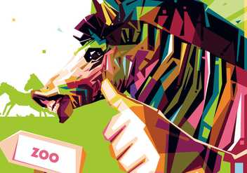 Zoo Zebra Portrait Vector - бесплатный vector #408741