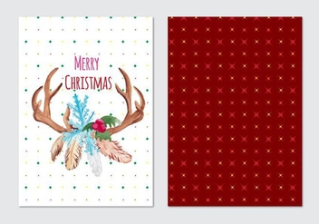 Christmas Free Vector Card - Kostenloses vector #408771