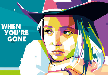 Ladies in Popart Portrait - WPAP - Free vector #408791