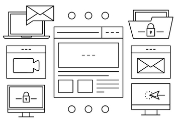 File Management Vector Icons - бесплатный vector #408831