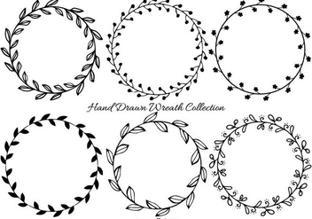 Cute Hand Drawn Wreath Frames - Free vector #408911