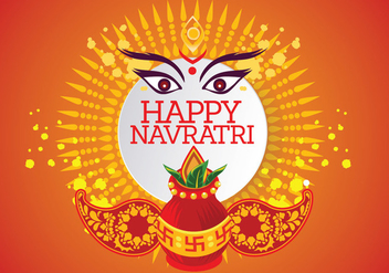 Creative Vector for Shubh Navratri or Durga Puja - бесплатный vector #408931