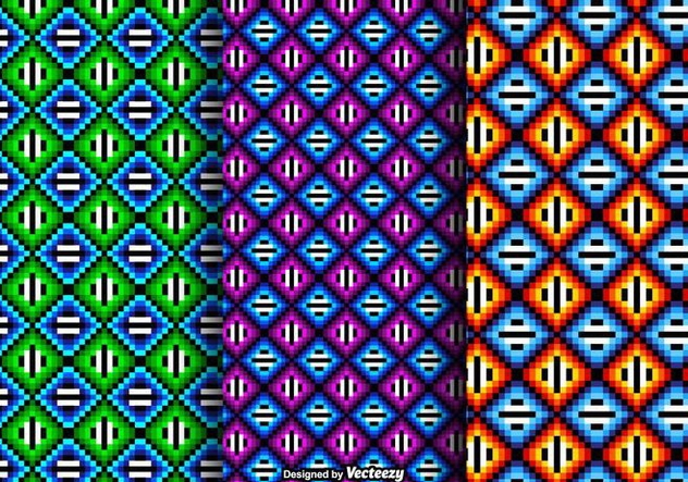 Free Colorful Huichol Vector Patterns - бесплатный vector #408991