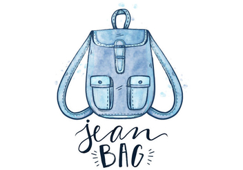 Free Blue Jean Bag - vector gratuit #409011