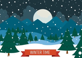 Free Christmas Vector Landscape - Free vector #409041