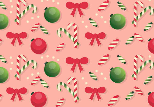 Free Christmas Pattern Background - бесплатный vector #409081