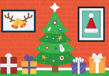 Free Vector Christmas Tree - vector gratuit #409091
