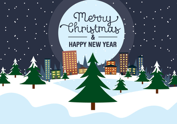 Free Christmas Eve Vector Landscape - Free vector #409121
