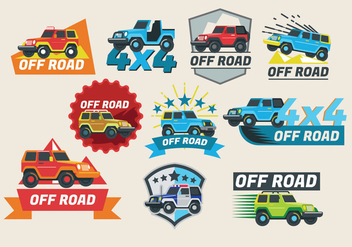 Off-Road Jeep Vehicle Vector Design - Free vector #409221