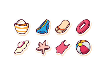 Free Beach Icon Set - Free vector #409241