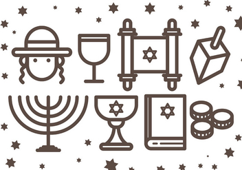 Free Shabbat Icons Vcetor - Free vector #409261