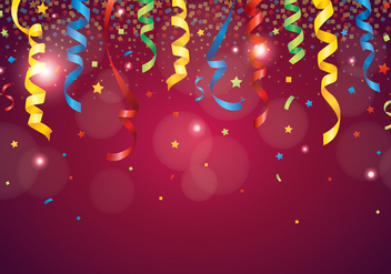 Red Party Popper Background - vector #409351 gratis